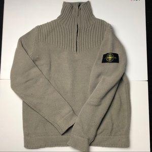 Stone Island Half Zip Turtleneck Sweater